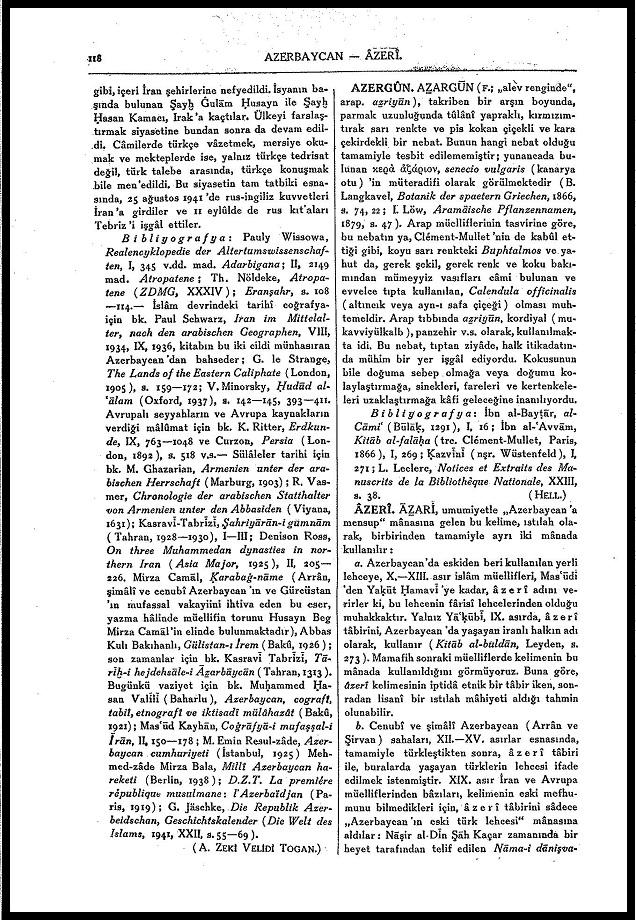 M. Fuad Köprülü. Âzerî. — MEB İA. 2. Cilt. 5. Baskı (1979)