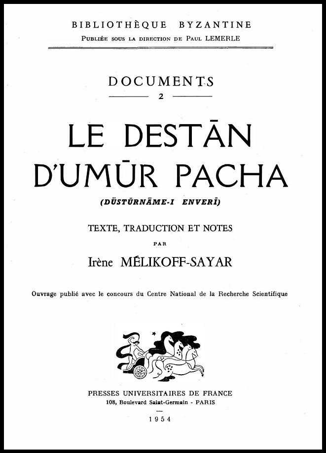Enverî. Le destān d'Umūr Pacha (1954)