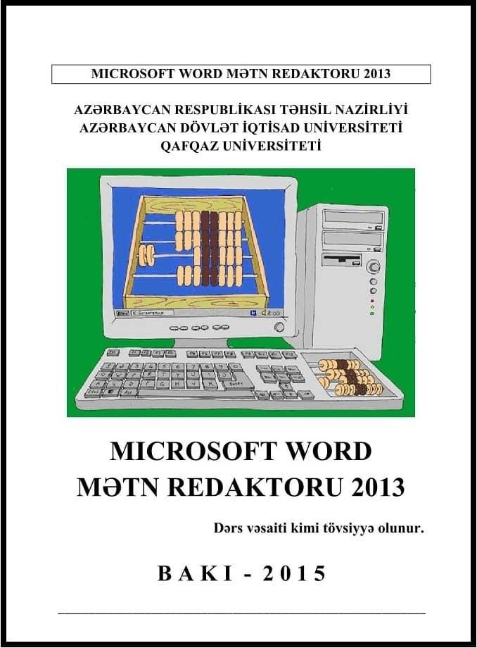 Kollektiv. Microsoft Word mətn redaktoru 2013 (2015)