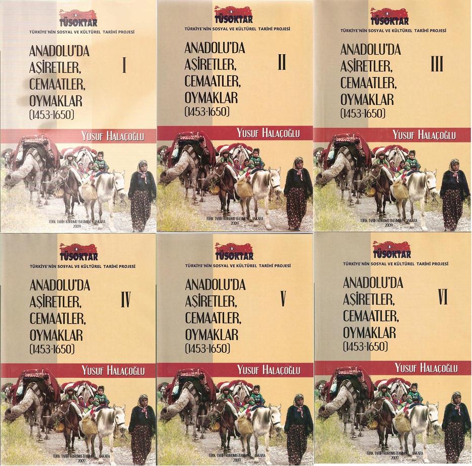 Yusuf Halaçoğlu. Anadolu'da Aşiretler, Cemaatler, Oymaklar (1453–1650). VI Cilt (2009)