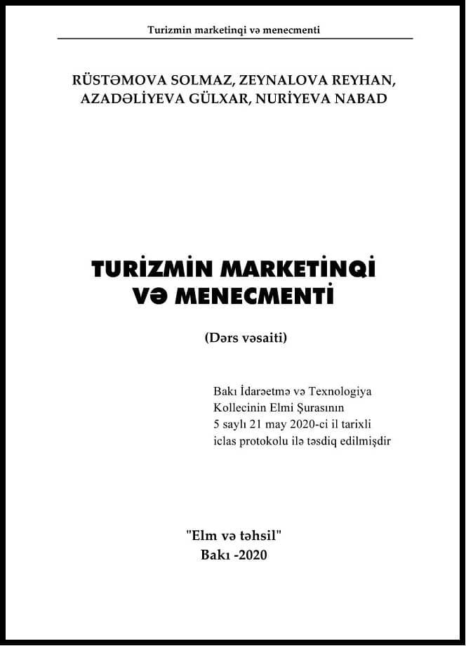 Kollektiv. Turizmin marketinqi və menecmenti (2020)