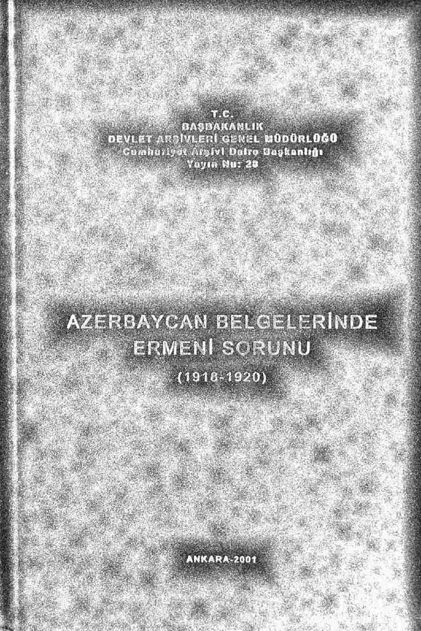 Azerbaycan belgelerinde Ermeni sorunu, 1918-1920 (2001)